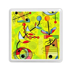 Happy day - yellow Memory Card Reader (Square)  by Valentinaart