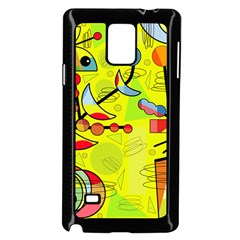 Happy Day   Yellow Samsung Galaxy Note 4 Case (black) by Valentinaart