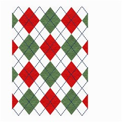 Red Green White Argyle Navy Small Garden Flag (two Sides) by AnjaniArt