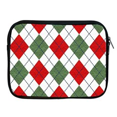 Red Green White Argyle Navy Apple Ipad 2/3/4 Zipper Cases by AnjaniArt