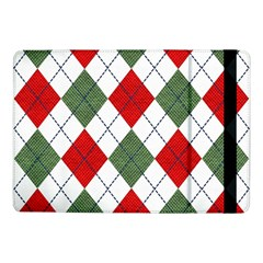 Red Green White Argyle Navy Samsung Galaxy Tab Pro 10 1  Flip Case by AnjaniArt
