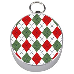 Red Green White Argyle Navy Silver Compasses by AnjaniArt