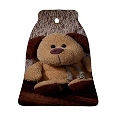 Stuffed Animal Fabric Dog Brown Bell Ornament (2 Sides)