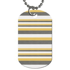Textile Design Knit Tan White Dog Tag (two Sides) by AnjaniArt