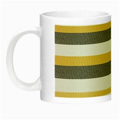 Textile Design Knit Tan White Night Luminous Mugs by AnjaniArt