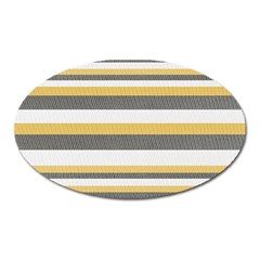 Textile Design Knit Tan White Oval Magnet by AnjaniArt