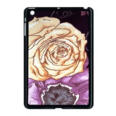 Texture Flower Pattern Fabric Design Apple Ipad Mini Case (black) by AnjaniArt