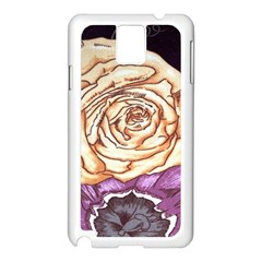 Texture Flower Pattern Fabric Design Samsung Galaxy Note 3 N9005 Case (white) by AnjaniArt