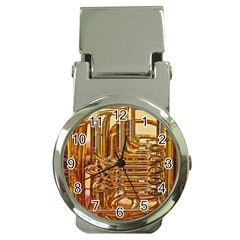 Tuba Valves Pipe Shiny Instrument Music Money Clip Watches by AnjaniArt