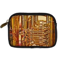 Tuba Valves Pipe Shiny Instrument Music Digital Camera Cases by AnjaniArt