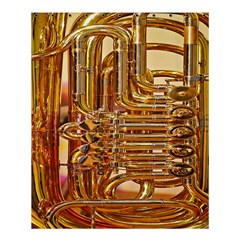 Tuba Valves Pipe Shiny Instrument Music Shower Curtain 60  X 72  (medium)