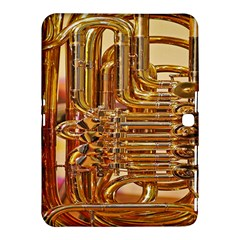 Tuba Valves Pipe Shiny Instrument Music Samsung Galaxy Tab 4 (10 1 ) Hardshell Case  by AnjaniArt