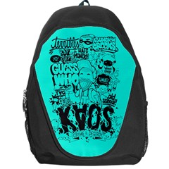 Typography Illustration Chaos Backpack Bag by AnjaniArt
