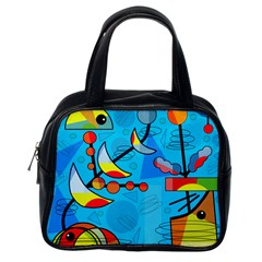 Happy Day   Blue Classic Handbags (one Side) by Valentinaart