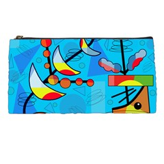 Happy Day   Blue Pencil Cases by Valentinaart
