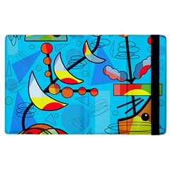 Happy Day   Blue Apple Ipad 2 Flip Case by Valentinaart