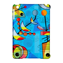 Happy Day   Blue Apple Ipad Mini Hardshell Case (compatible With Smart Cover) by Valentinaart