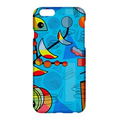 Happy Day   Blue Apple Iphone 6 Plus/6s Plus Hardshell Case by Valentinaart