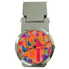 Happy Day   Orange Money Clip Watches by Valentinaart