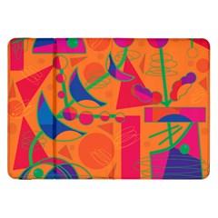 Happy Day   Orange Samsung Galaxy Tab 8 9  P7300 Flip Case by Valentinaart