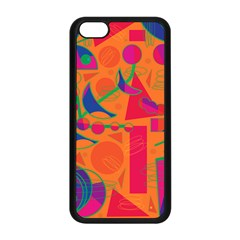 Happy Day   Orange Apple Iphone 5c Seamless Case (black) by Valentinaart