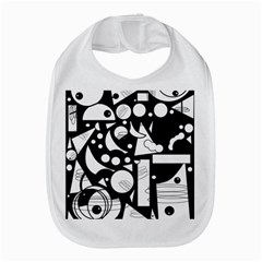 Happy Day   Black And White Bib by Valentinaart