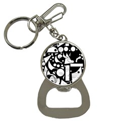 Happy Day   Black And White Bottle Opener Key Chains by Valentinaart