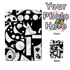 Happy Day   Black And White Playing Cards 54 Designs  by Valentinaart