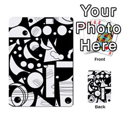 Happy Day   Black And White Multi Purpose Cards (rectangle)  by Valentinaart
