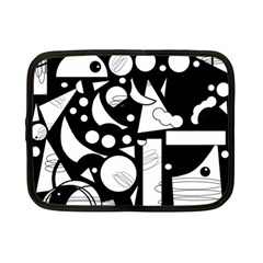 Happy Day   Black And White Netbook Case (small)  by Valentinaart