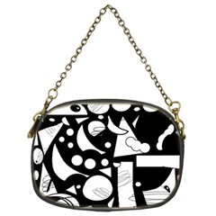 Happy Day   Black And White Chain Purses (two Sides)  by Valentinaart
