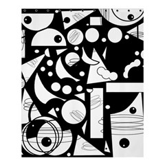 Happy Day   Black And White Shower Curtain 60  X 72  (medium)  by Valentinaart