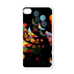 Magical Night  Apple Iphone 4 Case (white) by Valentinaart