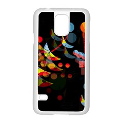 Magical Night  Samsung Galaxy S5 Case (white) by Valentinaart