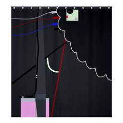 Plug In Shower Curtain 66  X 72  (large)