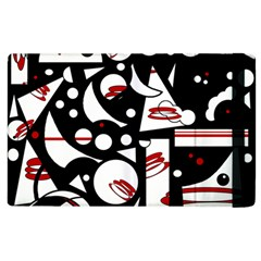 Happy Life   Red Apple Ipad 3/4 Flip Case by Valentinaart