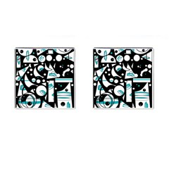 Happy Life   Blue Cufflinks (square) by Valentinaart