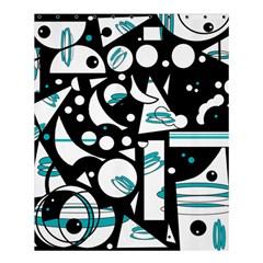 Happy Life   Blue Shower Curtain 60  X 72  (medium)  by Valentinaart