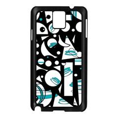Happy Life   Blue Samsung Galaxy Note 3 N9005 Case (black) by Valentinaart