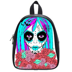 Hippy Chick Sugar Skull School Bag (small) by burpdesignsA