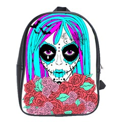 Hippy Chick Sugar Skull School Bag (xl) by burpdesignsA
