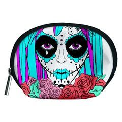 Hippy Chick Sugar Skull Accessory Pouch (medium) by burpdesignsA