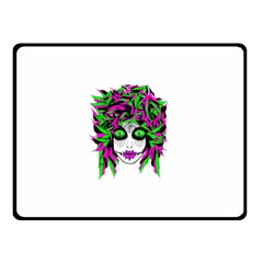 Spidie Lady Sugar Skull Double Sided Fleece Blanket (small)  by burpdesignsA