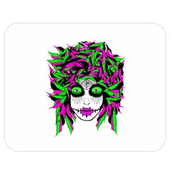 Spidie Lady Sugar Skull Double Sided Flano Blanket (medium)  by burpdesignsA