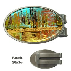 Autumn Landscape Impressionistic Design Money Clips (oval)  by theunrulyartist