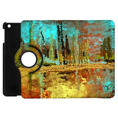 Autumn Landscape Impressionistic Design Apple Ipad Mini Flip 360 Case by digitaldivadesigns