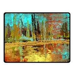 Autumn Landscape Impressionistic Design Double Sided Fleece Blanket (small)  by theunrulyartist