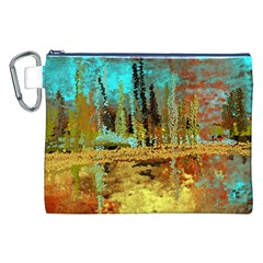 Autumn Landscape Impressionistic Design Canvas Cosmetic Bag (xxl)