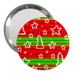 Christmas Pattern 3  Handbag Mirrors by Valentinaart