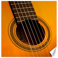 Vintage Guitar Acustic Canvas 16  X 16   by AnjaniArt